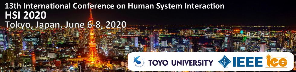 13th International Conference on Human System Interaction IEEE HSI 2020